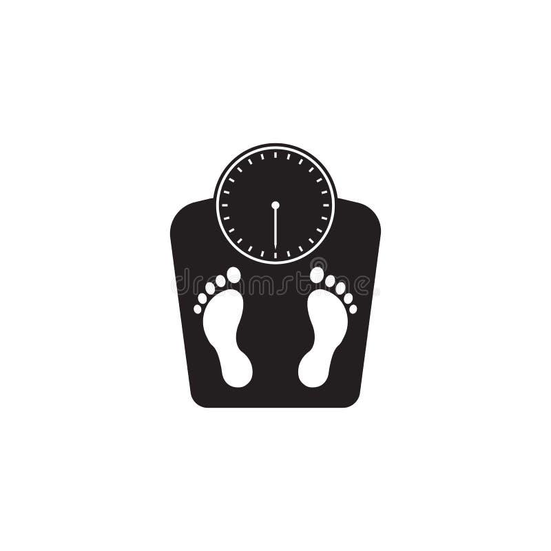 Floor scales solid icon, human footprints vector illustration