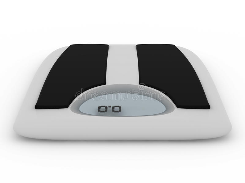 Download Floor Scales On  White Background Stock Illustration - Image: 10839833