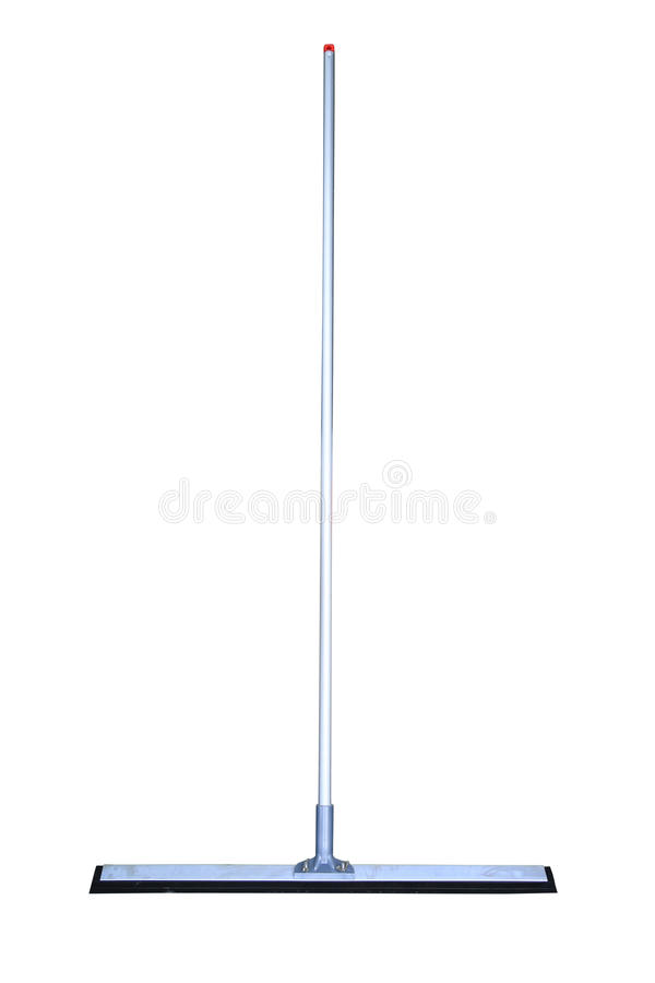 Floor squeegee isolated on white background, Close up cleaning set for used in home stock images