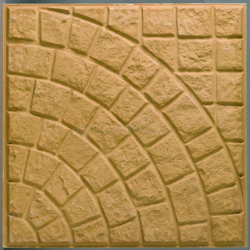 Download Brown Rough Square Floor Tile Isolated Royalty Free Stock Photo - Image: 19697225
