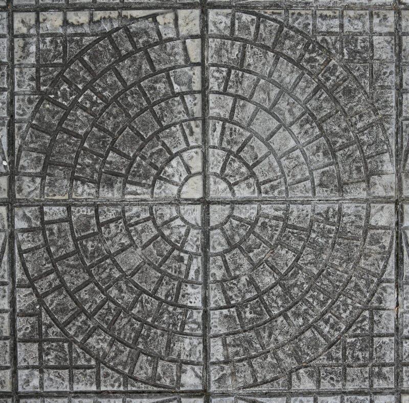 Floor tile. Background of grey floor tile stock photo