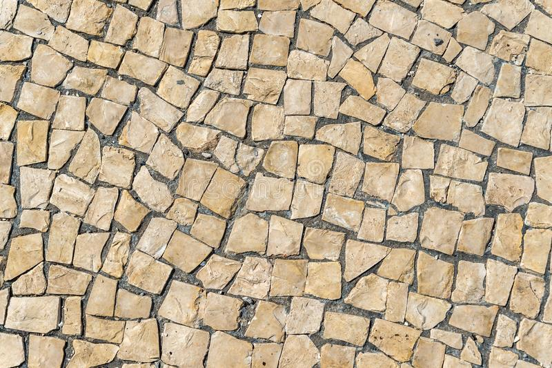 Floor typical Lisbon, detail of a typical soil in Portugal stock photography