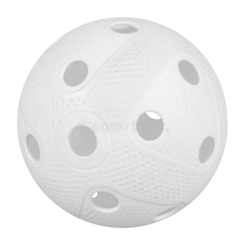 Floorball piłka na bielu obraz royalty free
