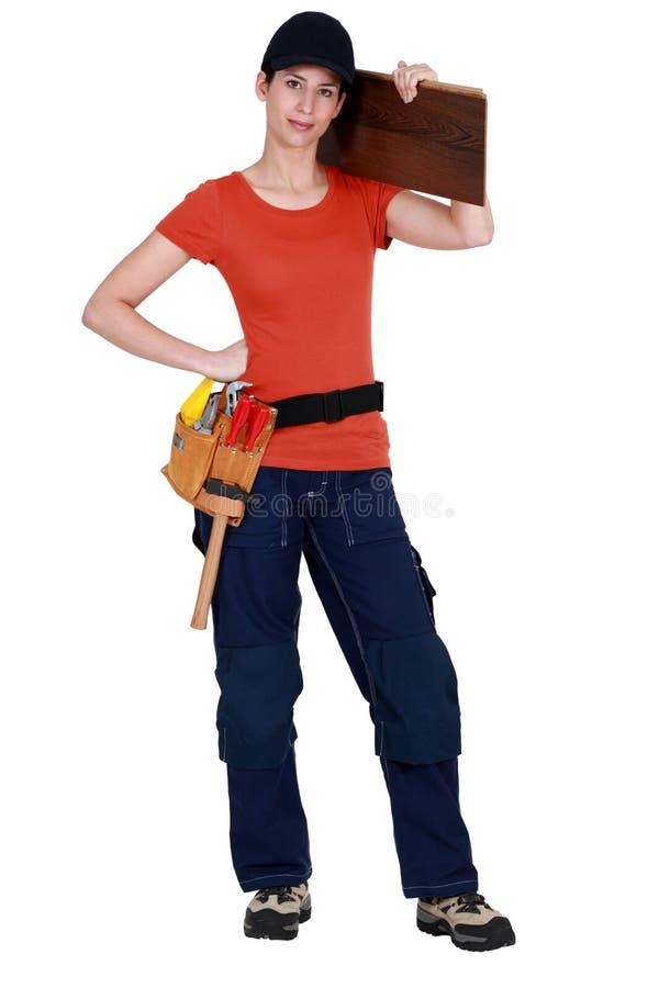 floorboards γυναίκα στοκ φωτογραφία με δικαίωμα ελεύθερης χρήσης