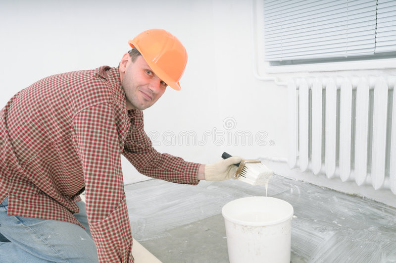 Flooring installation royalty free stock photography