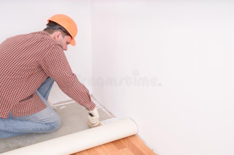 Flooring Installation Stock Image