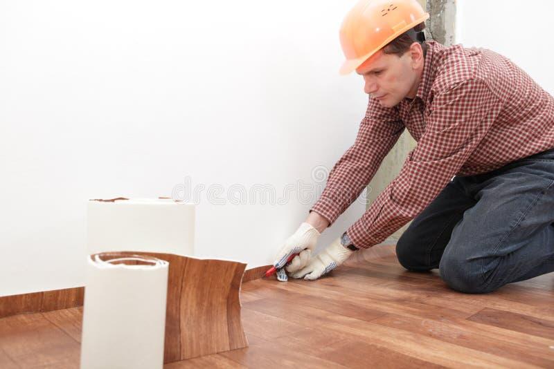 Flooring installation stock images