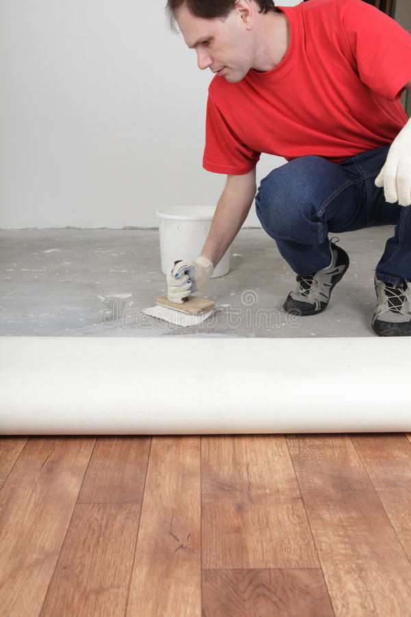 Flooring installation royalty free stock photos