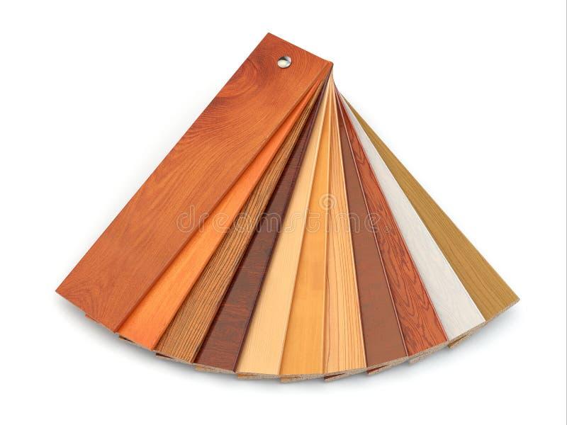 Flooring laminate or parqet samples. royalty free illustration