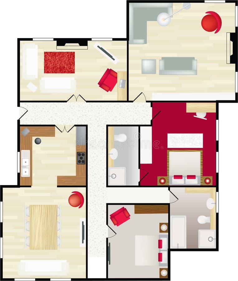 floorplan 库存例证