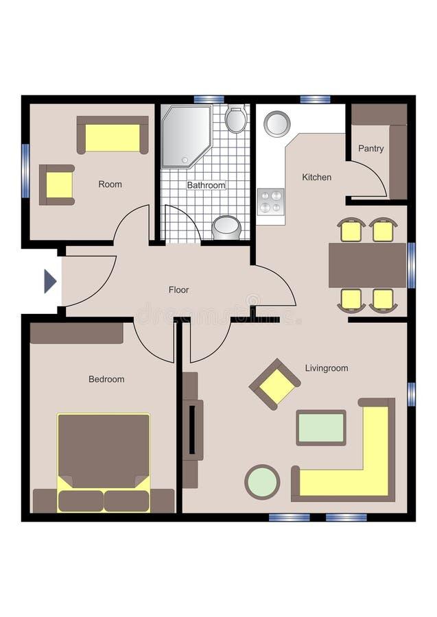 Floorplan vektor abbildung