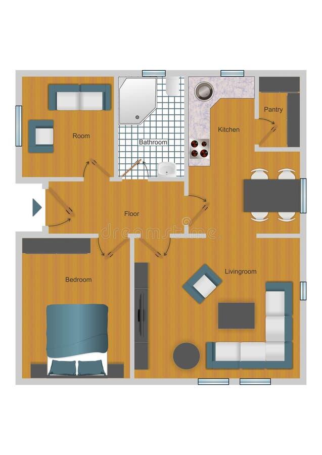 Floorplan lizenzfreie abbildung