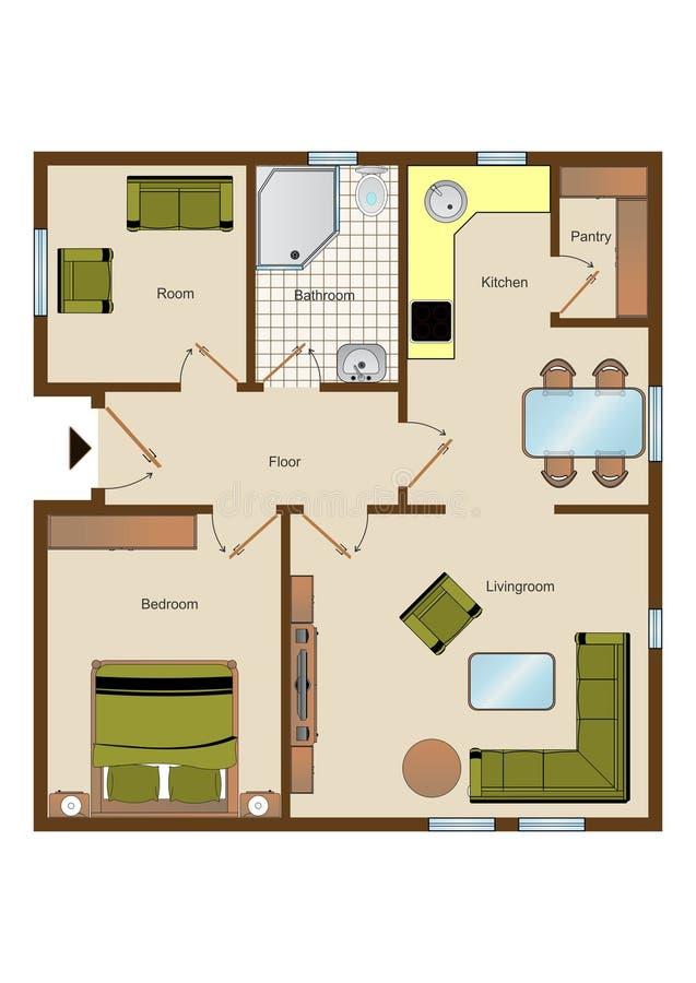 Floorplan stock abbildung