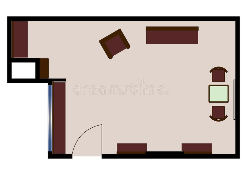 Floorplan vector illustratie
