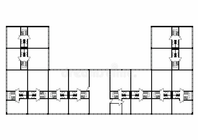 Floorplan διανυσματική απεικόνιση