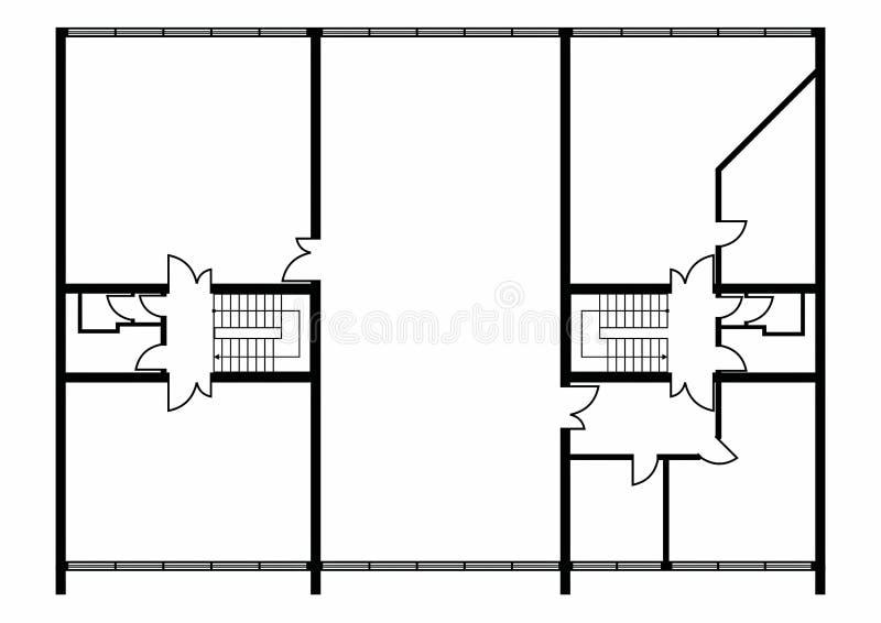Floorplan royaltyfri bild