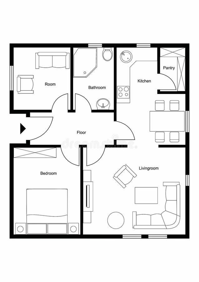Floorplan royaltyfri fotografi