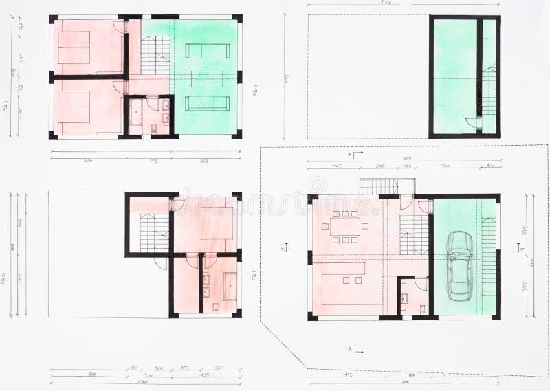 Floorplan de la casa moderna foto de archivo