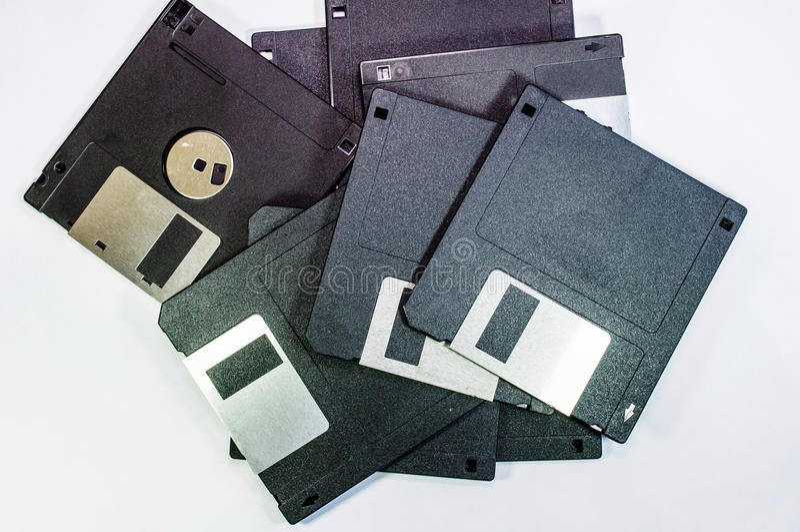 Floppy disc for computer data stock image