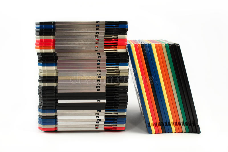 Floppy Discs In Stacks Royalty Free Stock Photography