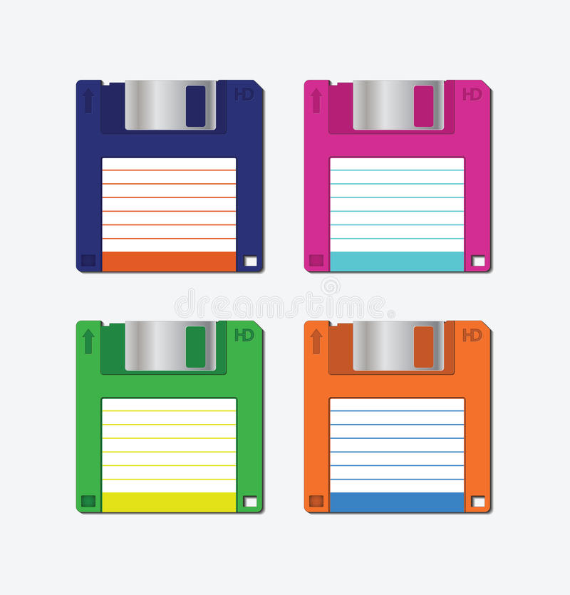 Download Floppy disk stock vector. Illustration of object, disc - 25463932