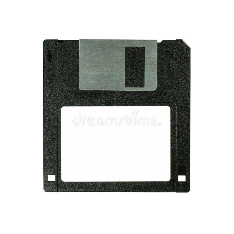 Floppy disk 3 A 5 pollici isolato su backround bianco Dischetto di computer d'annata Macro fine superiore di vista frontale su co fotografie stock