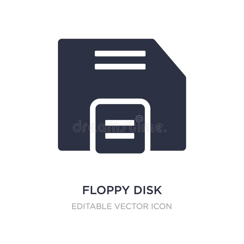 floppy disk save button icon on white background. Simple element illustration from UI concept vector illustration