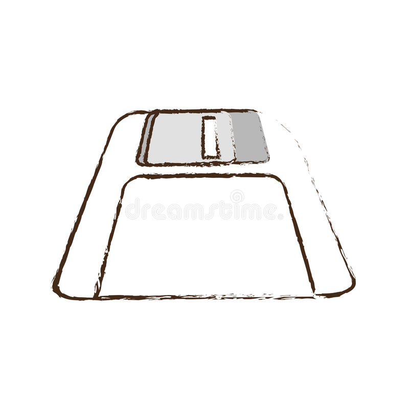 floppy disk storage information office sketch royalty free illustration