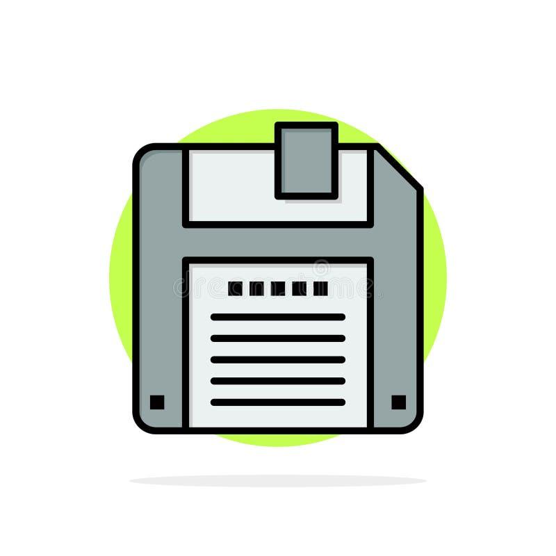 Floppy, Diskette, sparen Abstract Cirkel Achtergrond Vlak kleurenpictogram royalty-vrije illustratie