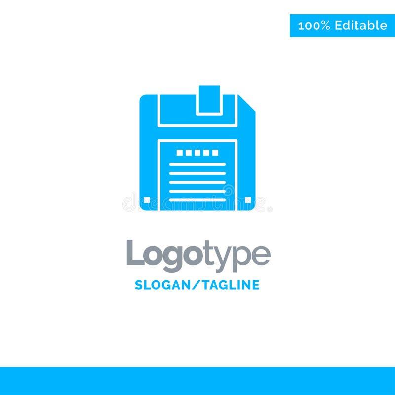 Floppy, Diskette, sparen Blauwe Zaken Logo Template vector illustratie