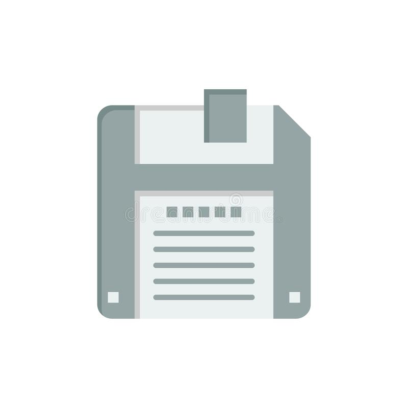 Floppy, Diskette, sparen Vlak Kleurenpictogram Het vectormalplaatje van de pictogrambanner vector illustratie