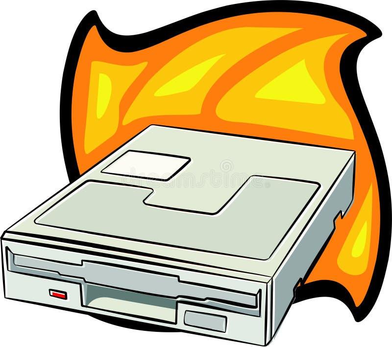 Floppy drive royalty free illustration