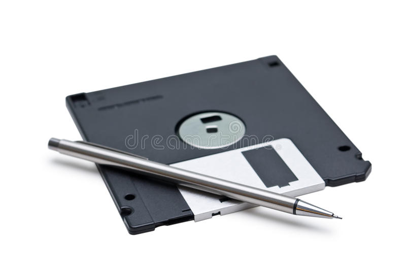 Floppy And Pencil Royalty Free Stock Photos