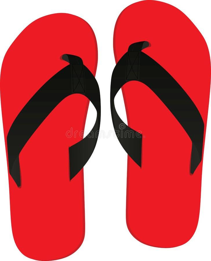 flops flip красные Взгляд сверху иллюстрация штока
