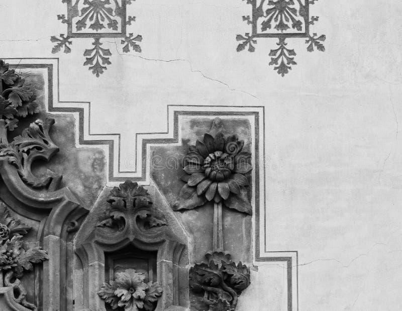 Flor única no canto imagens de stock royalty free