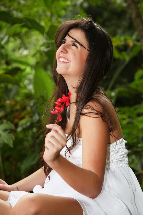 Download Flor foto de stock. Imagem de verde, fundo, fêmea, mãos - 26512812