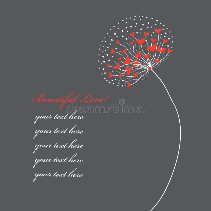 Flor abstracta de corazones stock de ilustración