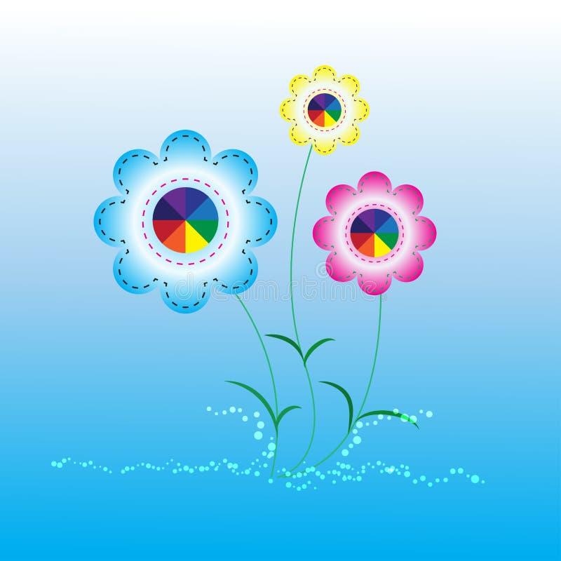 Flor abstracta del fondo stock de ilustración