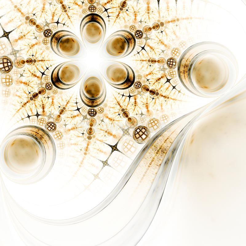 Flor abstracta del fractal con el modelo detallado ilustración del vector