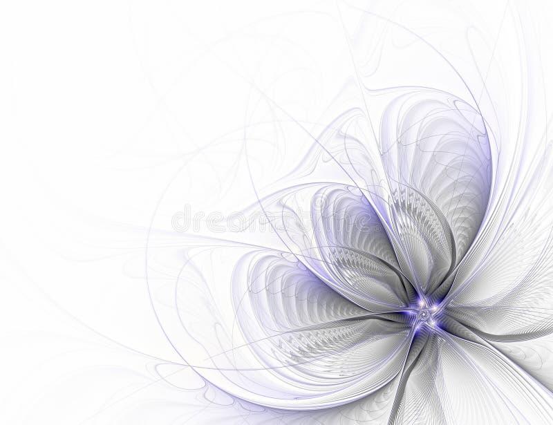 Flor abstracta del fractal en el fondo blanco libre illustration
