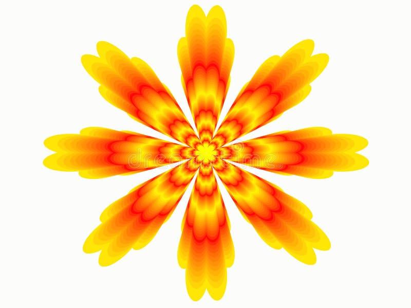 Flor abstrata alaranjada A imagem do vetor ilustração do vetor