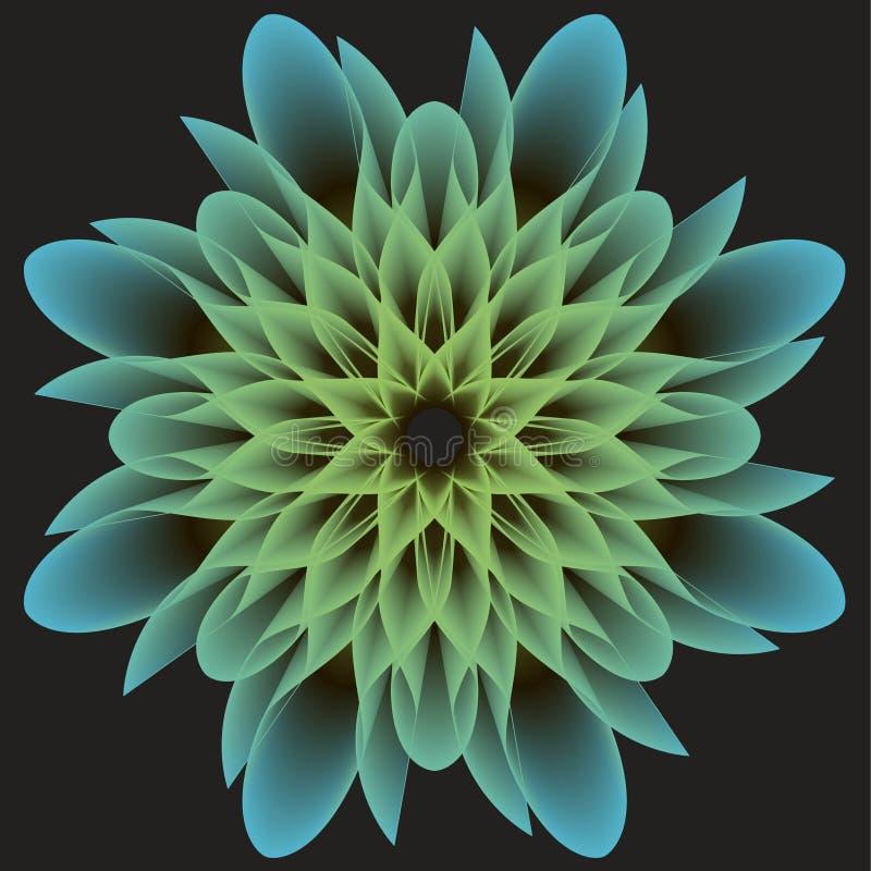 Flor abstrata bonita em um fundo escuro imagens de stock royalty free