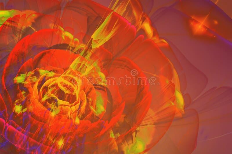 Flor abstrata do Fractal ilustração royalty free