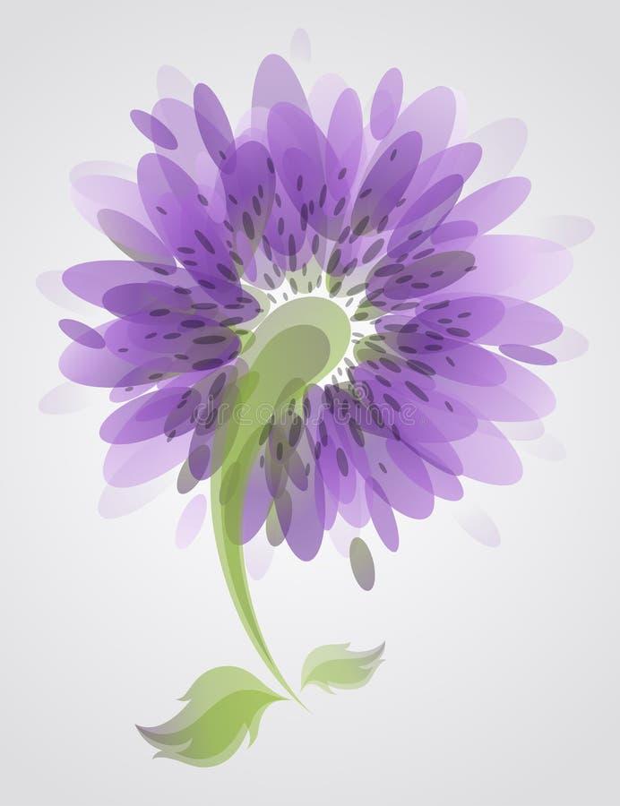 Flor abstrata do lilac. ilustração do vetor