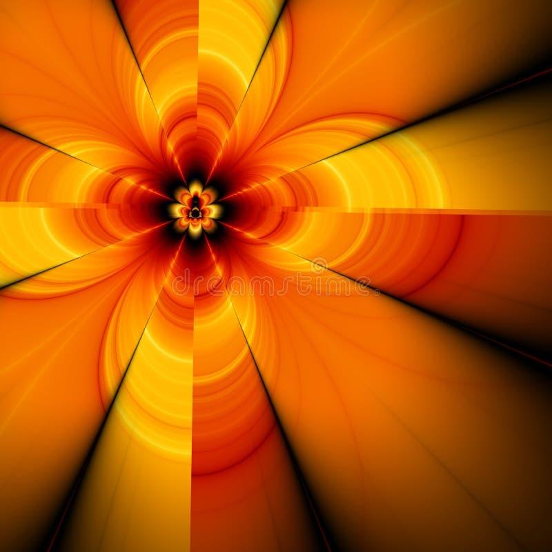 Flor abstrata, fractal ilustração do vetor