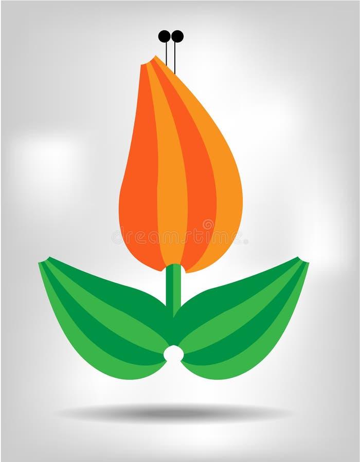 Flor alaranjada, isolada ilustração royalty free