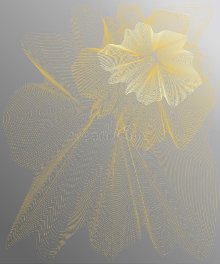 Flor amarilla en fondo stock de ilustración