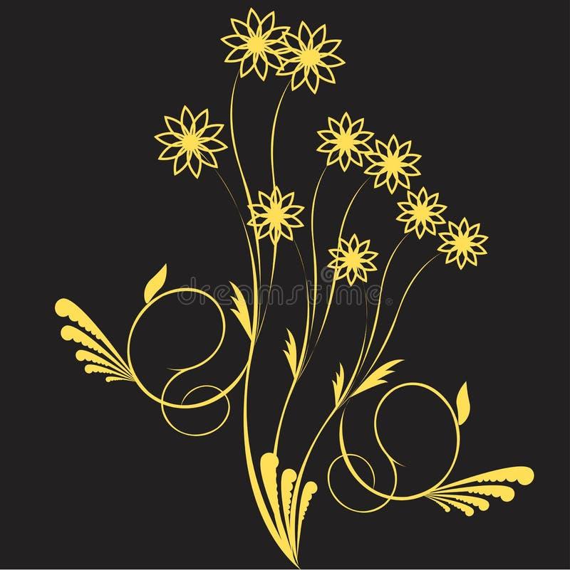 Flor amarilla en gris libre illustration