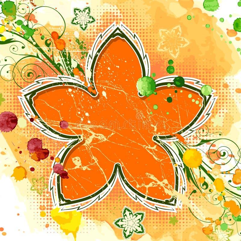 Flor anaranjada stock de ilustración