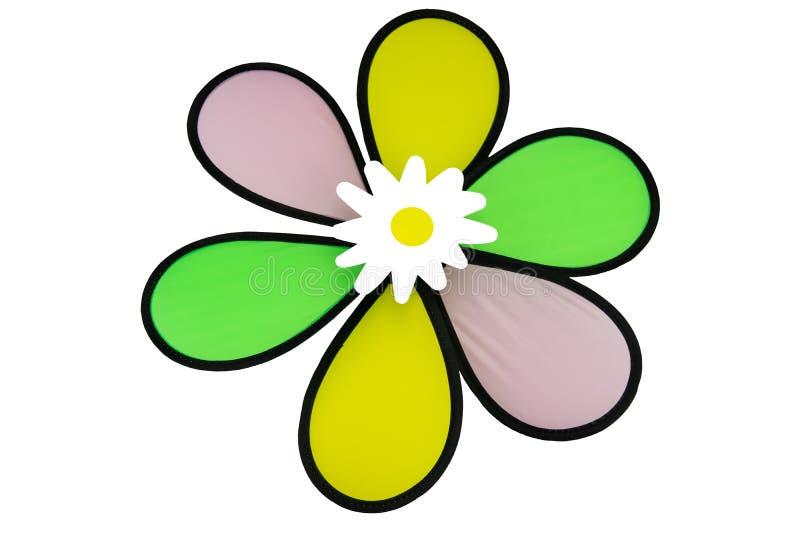 Flor artificial colorida del verano aislada en el fondo blanco fotos de archivo